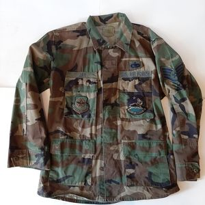 AIR FORCE fatigue jacket with patches
